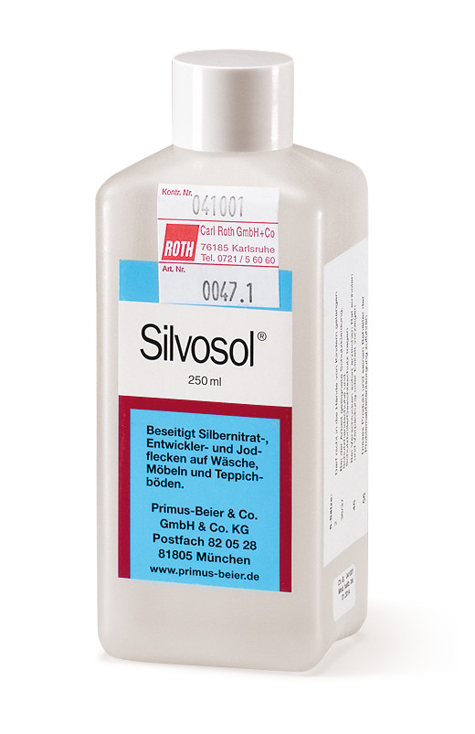 Cleaning agents Silvosol stain remover, 1 l