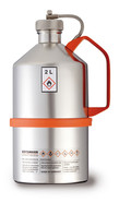 Safety laboratory canister polished, with screw cap and overpressure valve, 5 l