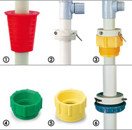 Accessories PVC barrel stopper  for PP/PTFE/AccuOne/EnergyOne barrel pumps