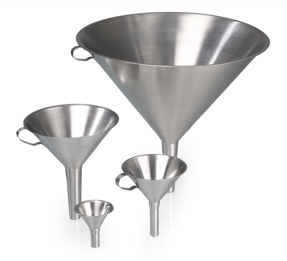Funnels, with handle, 300 mm, 20 mm