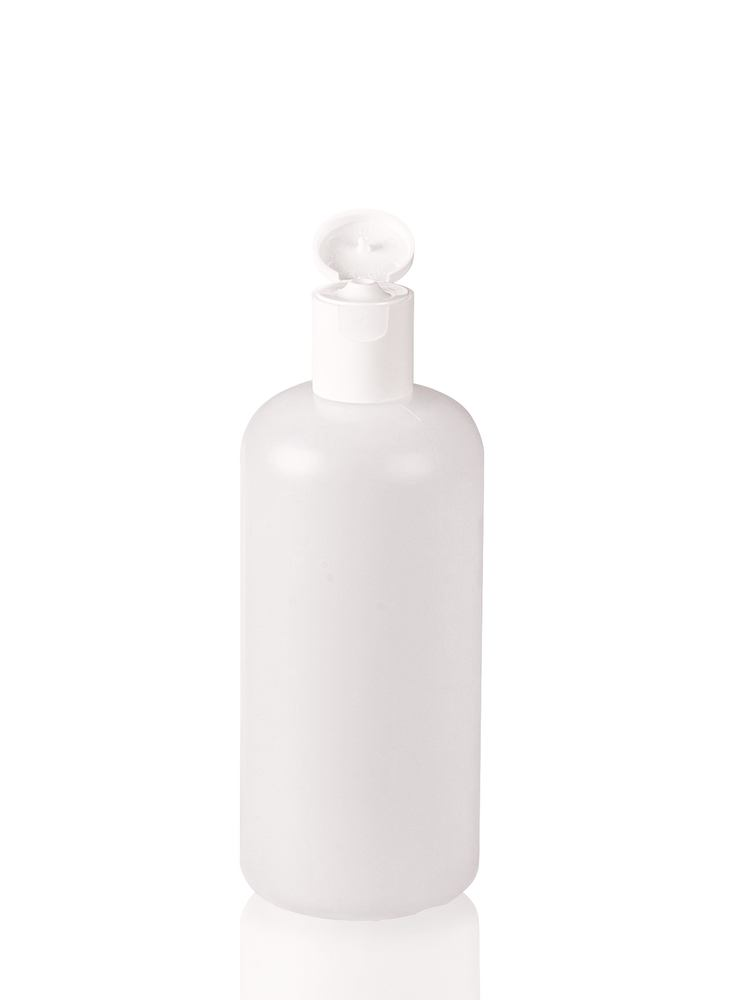 Narrow neck bottle with flap closure, 250 ml