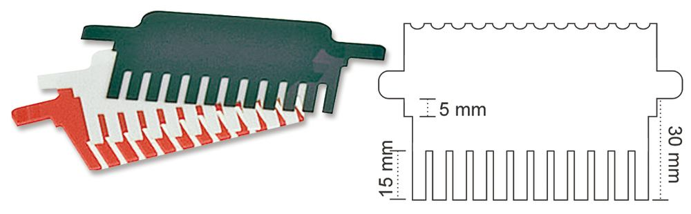 Comb ROTIPHORESE<sup>&reg;</sup> PROclamp MINI, 1.5 mm, Pockets: 8