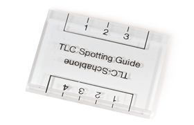 Spotting guides for TLC plates