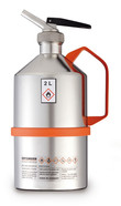 Safety laboratory canister polished, with microdispenser and overpressure valve, 1 l