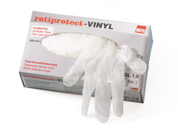 Disposable gloves ROTIPROTECT<sup>&reg;</sup> Vinyl, Size: M (7–8)