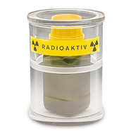 Cylindrical radiation protection container SEKUROKA<sup>&reg;</sup> Beta radiation protection, 120 x 170 mm