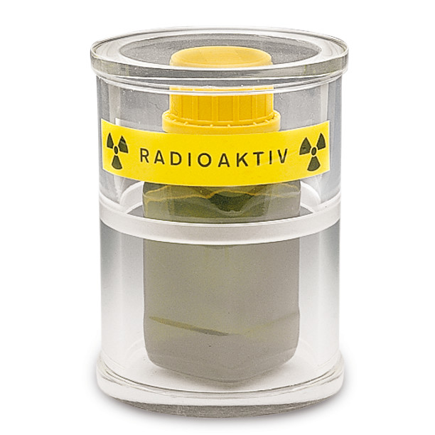 Cylindrical radiation protection container SEKUROKA<sup>&reg;</sup> Beta radiation protection, 150 x 280 mm