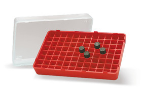 Storage box for sample vials
