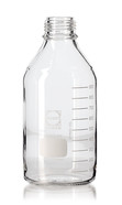 Screw top bottle DURAN<sup>&reg;</sup> Clear glass Without pouring ring and screw cap, 5000 ml, GL 45