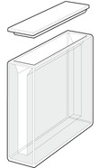 Glass cuvette ROTILABO<sup>&reg;</sup> L 50 mm