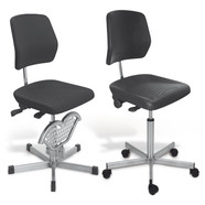 Office chair Stainless steel, Rollers, 500 to 690 mm