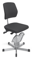Office chair Stainless steel, Glides, 440 ­ 630 mm