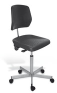 Office chair Stainless steel, Castors, 500 ­ 690 mm