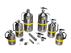 Safety laboratory canister Type 101 with screw cap, overpressure valve and UN-X approval, 2 l