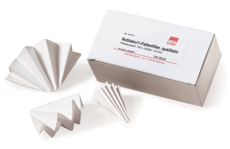 Folded filters ROTILABO<sup>&reg;</sup> Type: 601P, Diameter: 70 mm