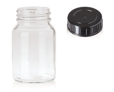 Wide mouth jars Clear glass, 250 ml, GL 55