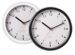 Quartz wall clocks, White
