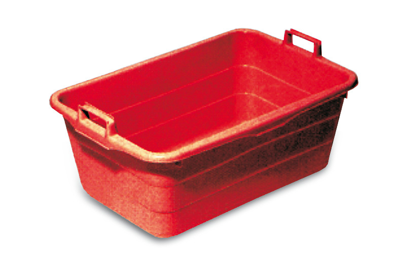 Tub, 85 l, Outer length: 800 mm, Red