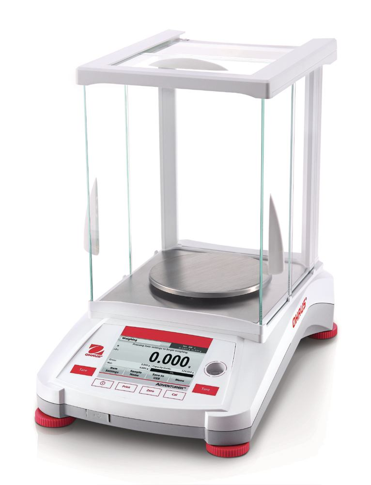 Analytical and precision balances Adventurer<sup>&reg;</sup> Series Models with internal calibration, calibrated ex works, 0,0001 g, 320 g, AX324 (W)