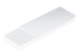 Microscope slide Corners bevelled 45°, With frosted edge