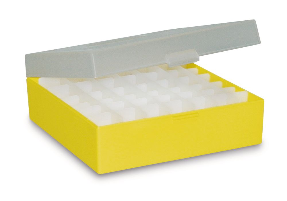 Cryogenic box ROTILABO<sup>&reg;</sup> without division, yellow, Height: 75 mm