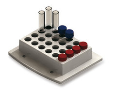 Accessories Interchangeable block for sample tubes and vials, Suitable for: 24 sample vials &#216; 12 mm (max. 1200 rpm)<sup></sup>