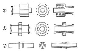Luer connectors ROTILABO<sup>&reg;</sup>, Suitable for: Luer Lock Male / Luer Lock Male