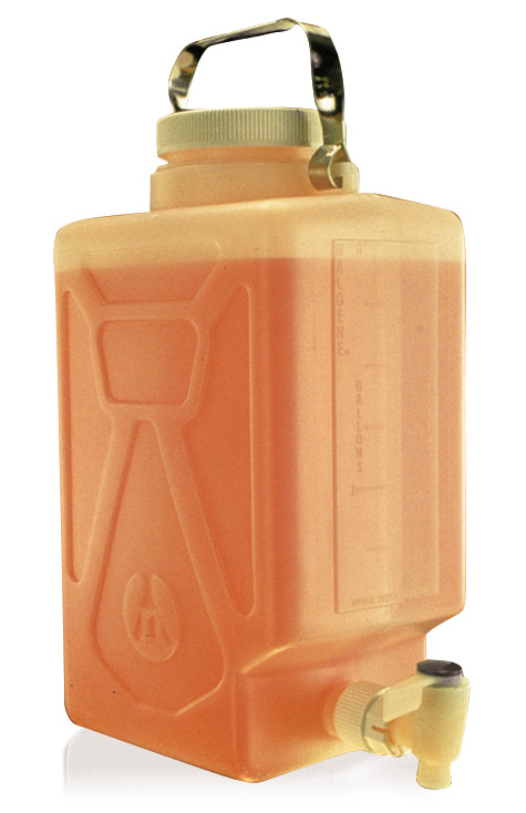 Canisters fluorinated with drain outlet, 9 l