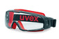 Wide-vision safety spectacles u-sonic Without attachable lens, black/red, 9308-247