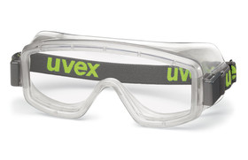 Wide-vision safety spectacles uvex 9405 for respiratory protection masks