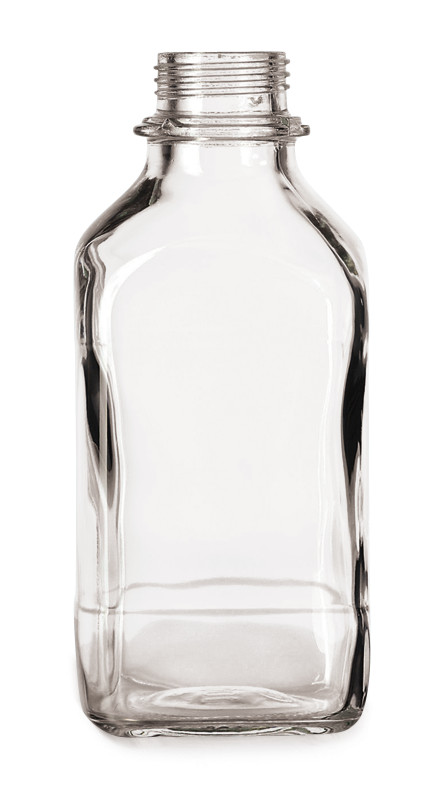 Narrow mouth bottle Square Clear glass, 1000 ml, 45, high form