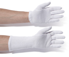 Cotton gloves heavy-duty Length approx. 24 cm, Size: 11
