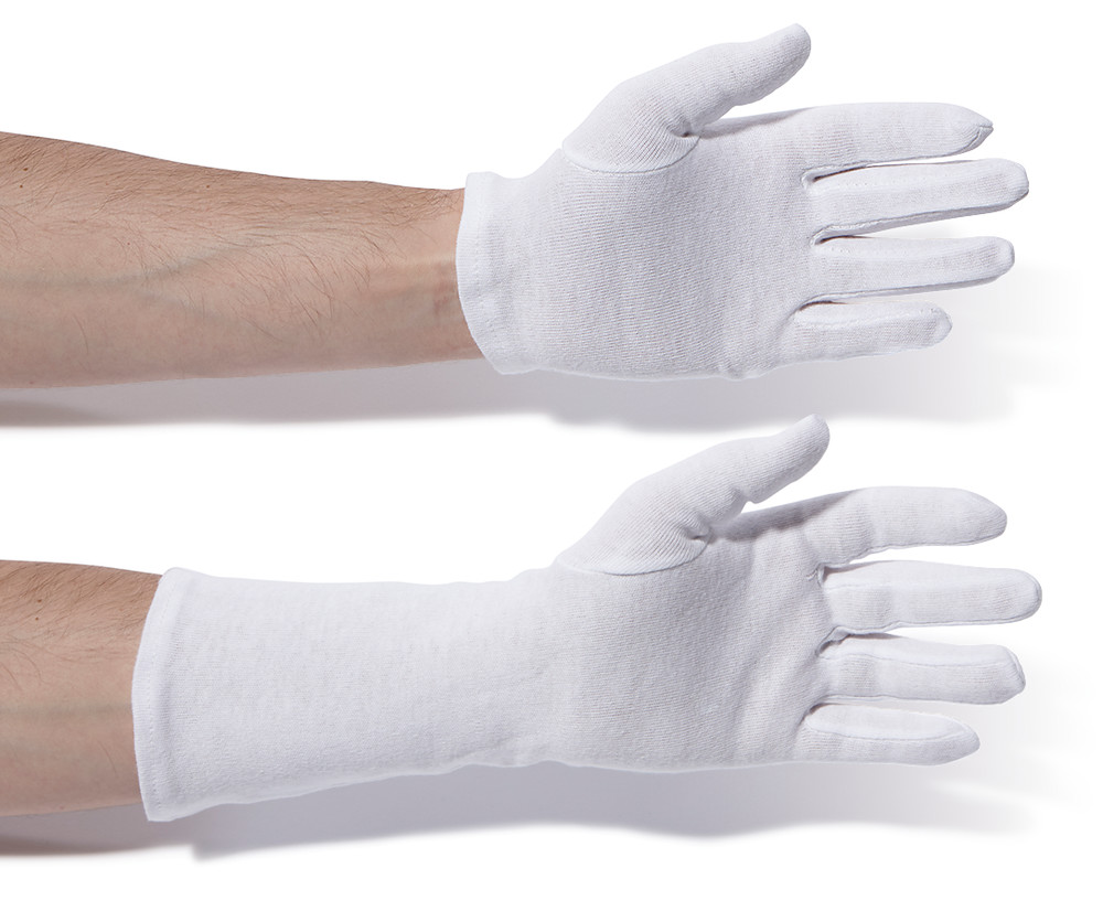 Cotton gloves medium-duty Length approx. 24 cm, Size: 8
