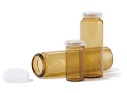 Glass vials with rolled rim Brown glass, 10 ml, Height: 45 mm