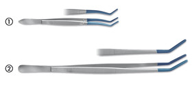 Tweezers with insulated tips, 165 mm