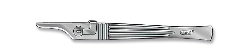 Scalpel handles BAYHA<sup>&reg;</sup>, solid, smooth handle, 130 mm