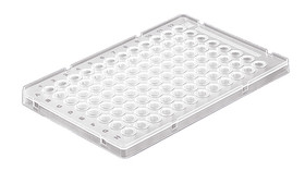 PCR trays 96 well, Low Profile, with raised rack