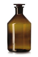 Narrow mouth bottle With ground glass joint Brown glass, 250 ml