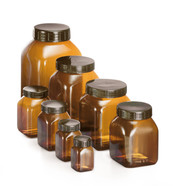 Wide-neck container ROTILABO<sup>&reg;</sup> Brown PVC, 200 ml, 14 unit(s)