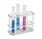 Test tube stands ROTILABO<sup>&reg;</sup> Stainless steel  Compartment size 18 x 18 mm, No. of slots: 24, 2 x 12