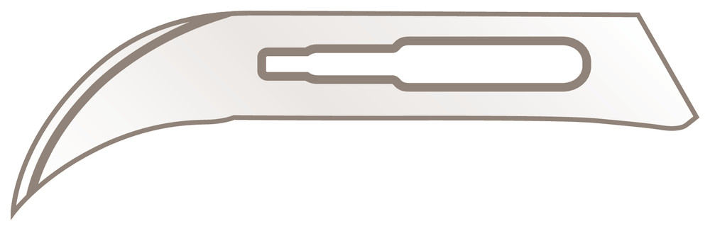 Scalpel blades for handle No. 3, 13