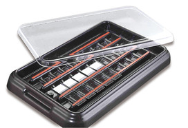 Staining chambers StainTray™ Black lid, Suitable for: 20 microscope slides