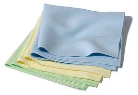 Reusable cloths Microfibre cloths, Yellow