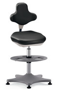 Laboratory chair Labster with ring base, Black
