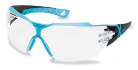 Safety spectacles pheos cx2, Black, Light blue, 9198-256