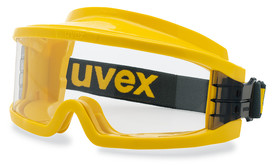 Wide-vision safety spectacles ultravision gas-tight