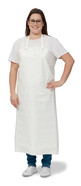 Laboratory and work apron made of PU, White, 110 cm