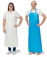 Laboratory and work apron made of PU, White, 130 cm