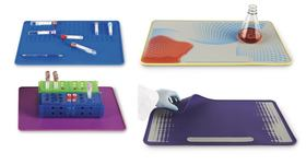 Laboratory mat With metal inserts, Violet
