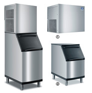 Flake ice maker with separate store <br/>RFP-series Manitowoc Ice RFP 0620 A, 141 kg, RFP 0620 A<br/>with store <br/>D 420